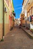 Cerdeña - pequeña calle Fotografía de archivo libre de regalías