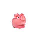 Cerdo afortunado del mazapán rosado por Año Nuevo Foto de archivo
