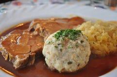 cerdo asado Alemán-estilo Foto de archivo libre de regalías