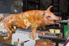 Cerdo asado a la parilla Imagenes de archivo