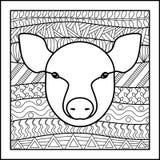 Cerdo chino de la muestra del zodiaco Imagen de archivo libre de regalías