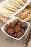 Cerdo cocinado rojo Foto de archivo libre de regalías