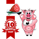 Cerdo con el jamón Imágenes de archivo libres de regalías