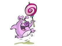Cerdo con el polo ilustración del vector