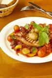 Cerdo con las verduras en salsa de tomate fotografía de archivo libre de regalías