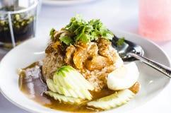 Cerdo curruscante del arroz Fotos de archivo libres de regalías