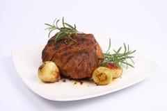 Cerdo de carne asada Fotos de archivo libres de regalías