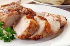 Cerdo de carne asada caliente imágenes de archivo libres de regalías