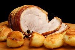 Cerdo de carne asada con las patatas Foto de archivo libre de regalías