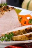 Cerdo de carne asada del tomillo del ajo Imagen de archivo libre de regalías