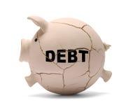 Cerdo de la deuda fotografía de archivo