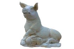 Cerdo de la estatua fotos de archivo