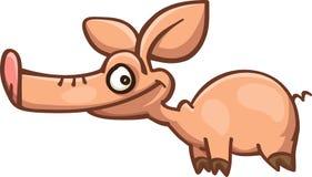 Cerdo de la historieta con el hocico largo Foto de archivo