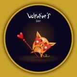 Cerdo de la tarjeta con oscuridad de los vidrios libre illustration
