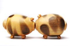 Cerdo de madera Imagenes de archivo