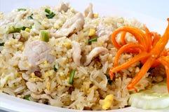 Cerdo del arroz frito, pollo, carne de vaca Foto de archivo libre de regalías