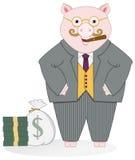 Cerdo del banquero stock de ilustración
