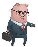 Cerdo del negocio stock de ilustración