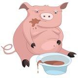 Cerdo del personaje de dibujos animados Imagenes de archivo