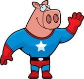 Cerdo del super héroe Fotos de archivo
