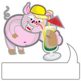 Cerdo del verano Foto de archivo libre de regalías