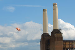 Cerdo del vuelo Fotos de archivo libres de regalías