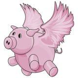 Cerdo del vuelo con el camino de recortes Imágenes de archivo libres de regalías