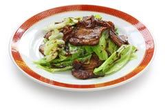 Cerdo dos veces cocinado, alimento chino Imagen de archivo