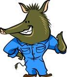 Cerdo elegante stock de ilustración