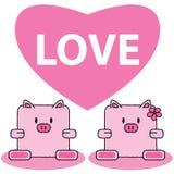 Cerdo en amor Foto de archivo libre de regalías