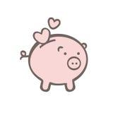 Cerdo encantador stock de ilustración