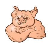 Cerdo enojado stock de ilustración