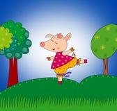 Cerdo feliz Fotografía de archivo libre de regalías