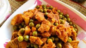 Cerdo frito con curry rojo Fotos de archivo