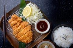 Cerdo frito japonés Imagen de archivo