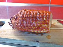 Cerdo fumado Carne Foto de archivo libre de regalías