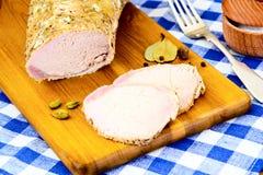 Cerdo hervido frío con la especia Foto de archivo
