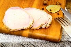 Cerdo hervido frío con la especia Imagen de archivo
