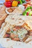 Cerdo Kebab imagen de archivo libre de regalías