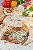 Cerdo Kebab imágenes de archivo libres de regalías