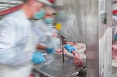 Cerdo que procesa la industria alimentaria de la carne Imágenes de archivo libres de regalías