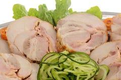 Cerdo relleno del rollo Comida de abastecimiento adornada Imagen de archivo