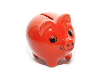 Cerdo rojo del dinero Fotografía de archivo