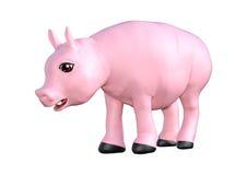 Cerdo rosado en blanco Fotografía de archivo