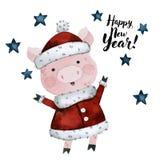 Cerdo, símbolo del año stock de ilustración
