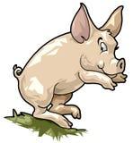 Cerdo sonriente. Estilo de la historieta Ilustración del Vector