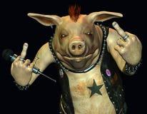 Cerdo travieso ilustración del vector