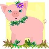 Cerdo tropical ilustración del vector