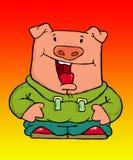 cerdo turbado Fotografía de archivo libre de regalías