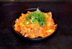 Cerdo y kimchi Imágenes de archivo libres de regalías